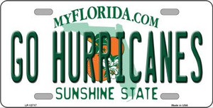 Go Hurricanes Wholesale Novelty Metal License Plate LP-12717