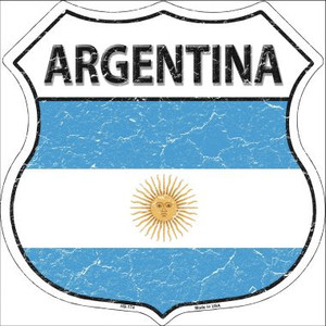 Argentina Country Flag Highway Shield Wholesale Metal Sign