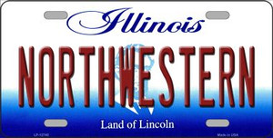 Northwestern Wholesale Novelty Metal License Plate LP-12745