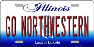Go Northwestern Wholesale Novelty Metal License Plate LP-12746