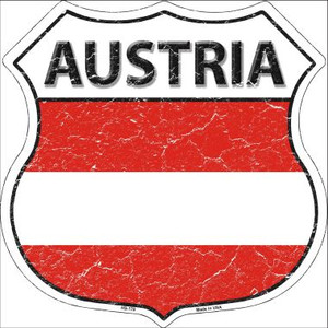 Austria Country Flag Highway Shield Wholesale Metal Sign