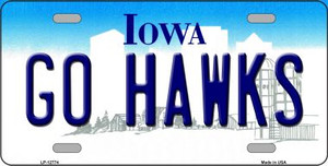 Go Hawks Wholesale Novelty Metal License Plate LP-12774