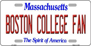 Boston College Fan Wholesale Novelty Metal License Plate LP-12823