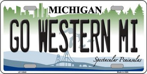 Go Western Michigan Wholesale Novelty Metal License Plate LP-12840