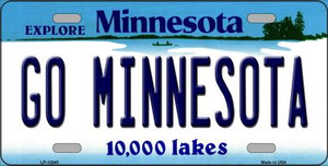 Go Minnesota Wholesale Novelty Metal License Plate LP-12845