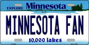 Minnesota Fan Wholesale Novelty Metal License Plate LP-12846
