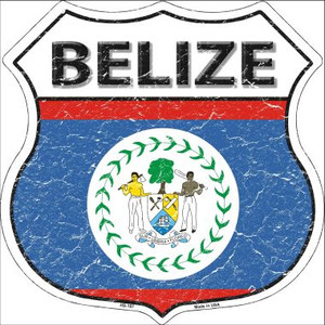 Belize Country Flag Highway Shield Wholesale Metal Sign