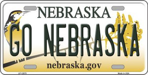 Go Nebraska Wholesale Novelty Metal License Plate LP-12870