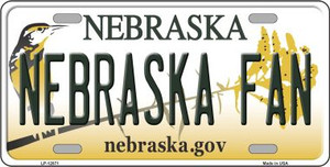 Nebraska Fan Wholesale Novelty Metal License Plate LP-12871