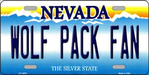 Wolf Pack Fan Wholesale Novelty Metal License Plate LP-12878