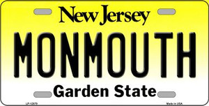 Monmouth Wholesale Novelty Metal License Plate LP-12879