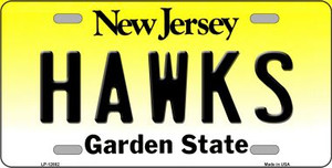 Hawks Wholesale Novelty Metal License Plate LP-12882