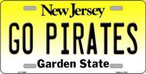 Go Pirates Wholesale Novelty Metal License Plate LP-12899