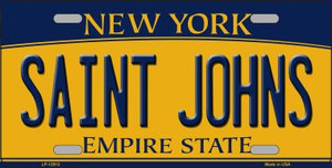 Saint Johns Wholesale Novelty Metal License Plate LP-12912