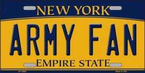 Army Fan Wholesale Novelty Metal License Plate LP-12925