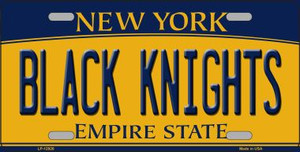 Black Knights Wholesale Novelty Metal License Plate LP-12926