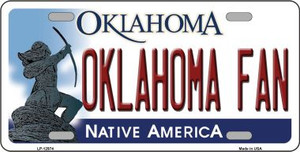 Oklahoma Fan Wholesale Novelty Metal License Plate LP-12974