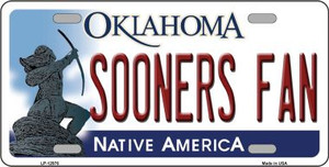 Sooners Fan Wholesale Novelty Metal License Plate LP-12976