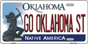 Go Oklahoma State Wholesale Novelty Metal License Plate LP-12977