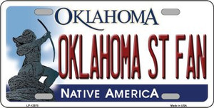 Oklahoma State Fan Wholesale Novelty Metal License Plate LP-12978