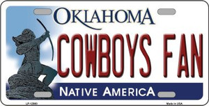 Cowboys Fan Wholesale Novelty Metal License Plate LP-12980