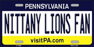 Nittany Lions Fan Wholesale Novelty Metal License Plate LP-12992