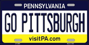 Go Pittsburgh Wholesale Novelty Metal License Plate LP-12993