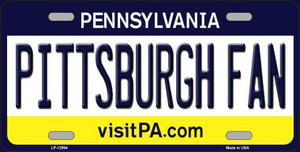 Pittsburgh Fan Wholesale Novelty Metal License Plate LP-12994