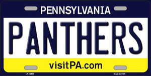 Panthers Wholesale Novelty Metal License Plate LP-12995
