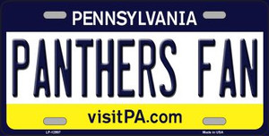 Panthers Fan Wholesale Novelty Metal License Plate LP-12997