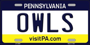 Owls Wholesale Novelty Metal License Plate LP-13000