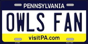 Owls Fan Wholesale Novelty Metal License Plate LP-13002