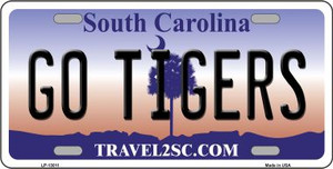 Go Tigers Wholesale Novelty Metal License Plate LP-13011