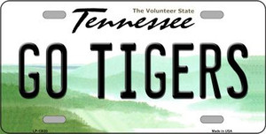 Go Tigers Wholesale Novelty Metal License Plate LP-13020