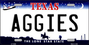 Aggies Wholesale Novelty Metal License Plate LP-13046