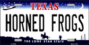 Horned Frogs Wholesale Novelty Metal License Plate LP-13052