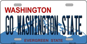 Go Washington State Wholesale Novelty Metal License Plate LP-13098