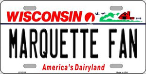 Marquette Fan Wholesale Novelty Metal License Plate LP-13116