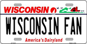 Wisconsin Fan Wholesale Novelty Metal License Plate LP-13121
