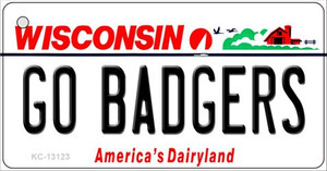 Go Badgers Wholesale Novelty Metal License Plate LP-13123