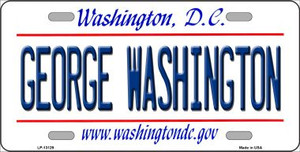 George Washington Wholesale Novelty Metal License Plate LP-13129
