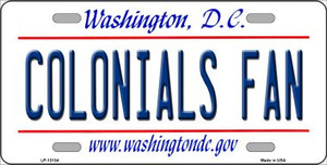 Colonials Fan Wholesale Novelty Metal License Plate LP-13134