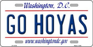 Go Hoyas Wholesale Novelty Metal License Plate LP-13139