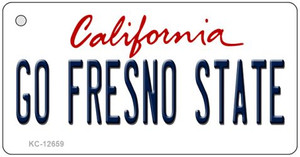 Go Fresno State Wholesale Novelty Metal Key Chain KC-12659