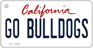 Go Bulldogs Wholesale Novelty Metal Key Chain KC-12662
