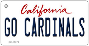 Go Cardinals Wholesale Novelty Metal Key Chain KC-12674