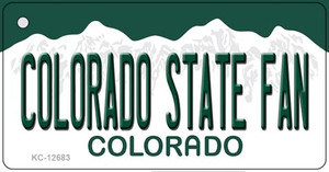 Colorado State Fan Wholesale Novelty Metal Key Chain KC-12683