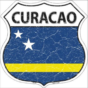 Curacao Country Flag Highway Shield Wholesale Metal Sign