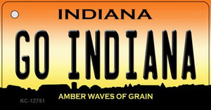 Go Indiana Wholesale Novelty Metal Key Chain KC-12751