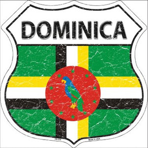 Dominica Country Flag Highway Shield Wholesale Metal Sign